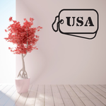 USA Dog Tag Decal