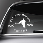 Hockey Player Custom In Loving Memory Decal