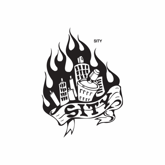 Spray Paint Can City Decal