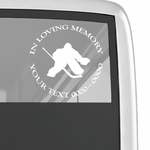 Hockey Goalie Custom In Loving Memory Decal