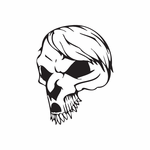 Skull Wall Decal - Vinyl Decal - Car Decal - DC 8030