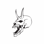 Skull Wall Decal - Vinyl Decal - Car Decal - DC 8031