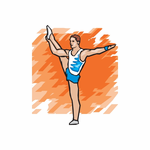 Gymnastics Dance Wall Decal - Vinyl Sticker - Car Sticker - Die Cut Sticker - DC 011