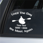 Kayak Custom In Loving Memory Decal