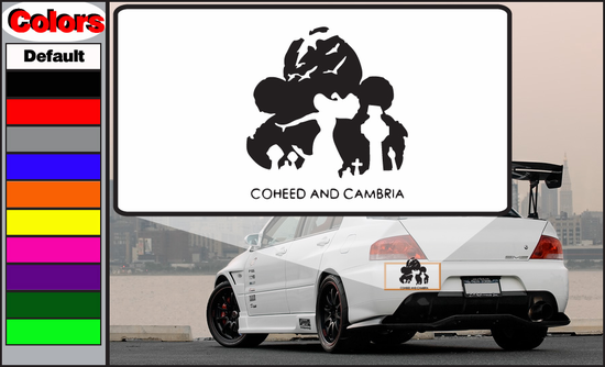 Coheed and Cambria Text Grave Decal