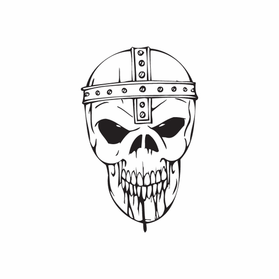 Skull Wall Decal - Vinyl Decal - Car Decal - DC 8069