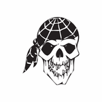 Skull Wall Decal - Vinyl Decal - Car Decal - DC 8073