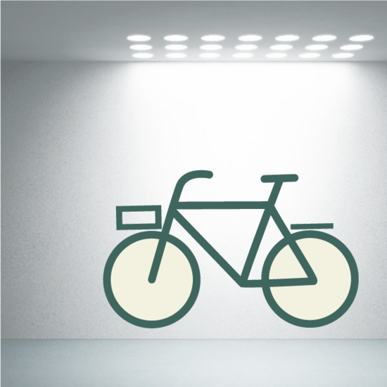 Bicycle Wall Decal - Vinyl Decal - Car Decal - Idcolor001