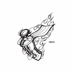Flaming Spray Paint Can Hero Decal