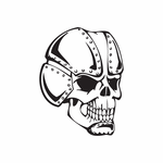 Skull Wall Decal - Vinyl Decal - Car Decal - DC 8076