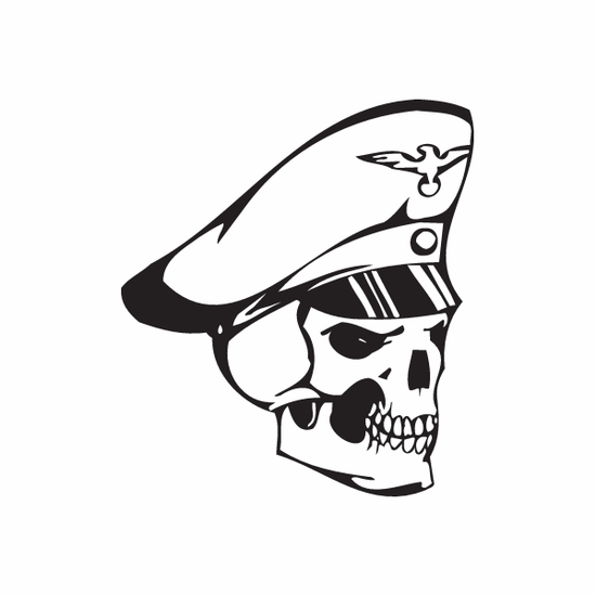 Skull Wall Decal - Vinyl Decal - Car Decal - DC 8087