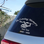 Military Helicopter Custom In Loving Memory Decal