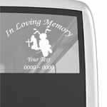 Praying Motorcycle Rider Custom In Loving Memory Decal