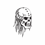 Skull Wall Decal - Vinyl Decal - Car Decal - DC 8099