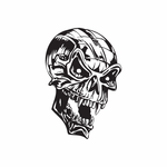 Skull Wall Decal - Vinyl Decal - Car Decal - DC 8129