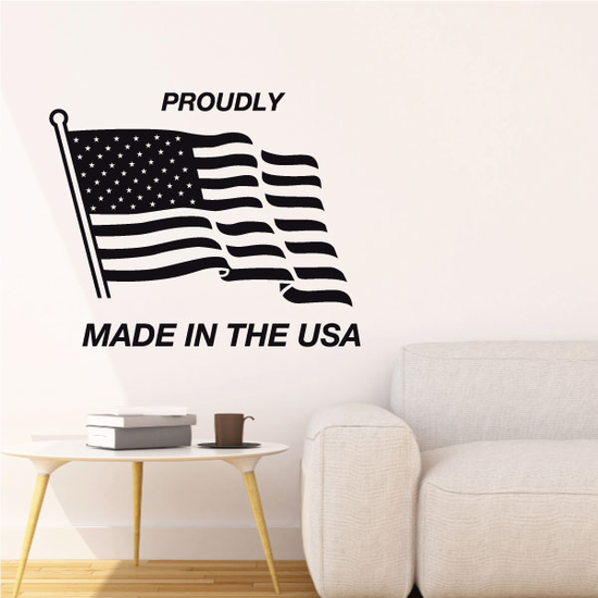 Proudly Made in the USA Decal