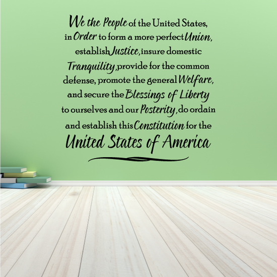 Constitution Wall Decal