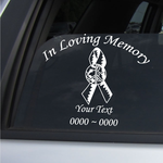 Peace in the World Custom In Loving Memory Decal