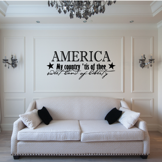 America My Country tis of Thee Decal