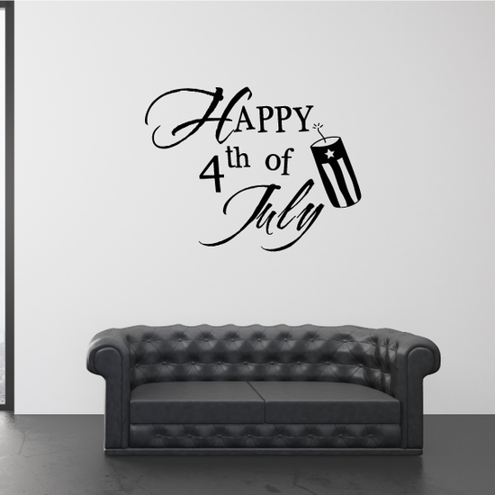 Happy 4th of July Firecracker Decal