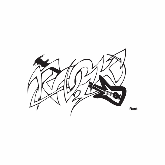 Rock Graffiti Decal