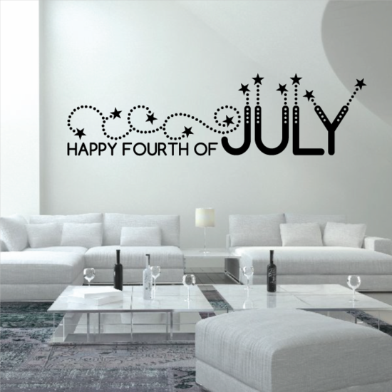 4th of July Decorated Stars Decal