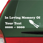 Scuba Diver Custom In Loving Memory Decal