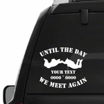 Sky Diving Custom In Loving Memory Decal