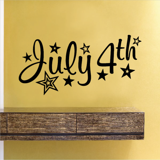 July 4th with Stars Decal