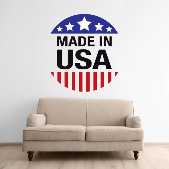Made in the USA Circle Sticker