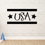 USA Stars Wall Decal