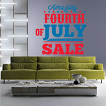Amazing Fourth Of July Sale Decal