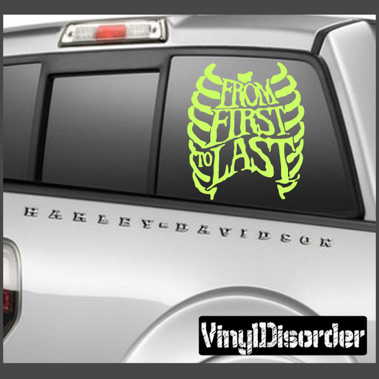 From First To Last Rib Decal