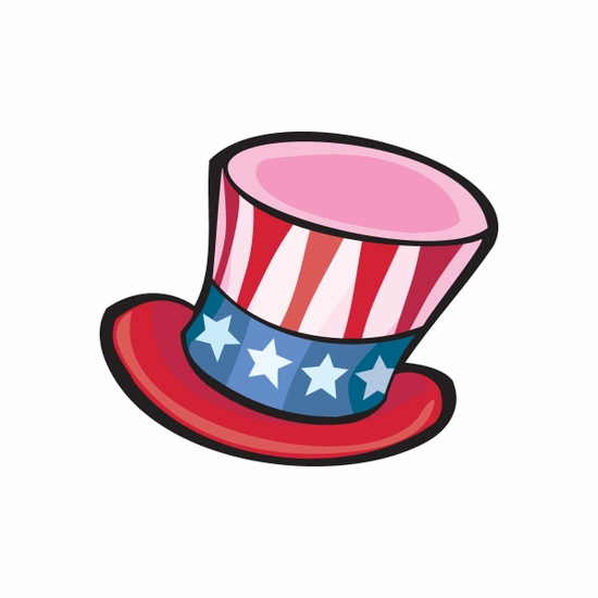 Fourth of July Hat Sticker