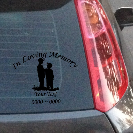 Two Brothers Custom In Loving Memory Decal
