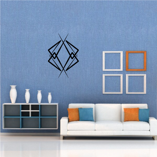 Tribal Pinstripe Wall Decal - Vinyl Decal - Car Decal - 583