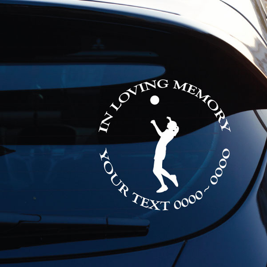 Volleyball Female Serving Custom In Loving Memory Decal