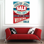 Business 4th of July Promotional Rectangle Sticker