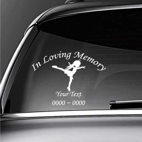 Dancing Girl Custom In Loving Memory Decal