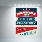 Independence Day Colorful Typography Sticker