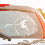 Wind Surfing Custom In Loving Memory Decal