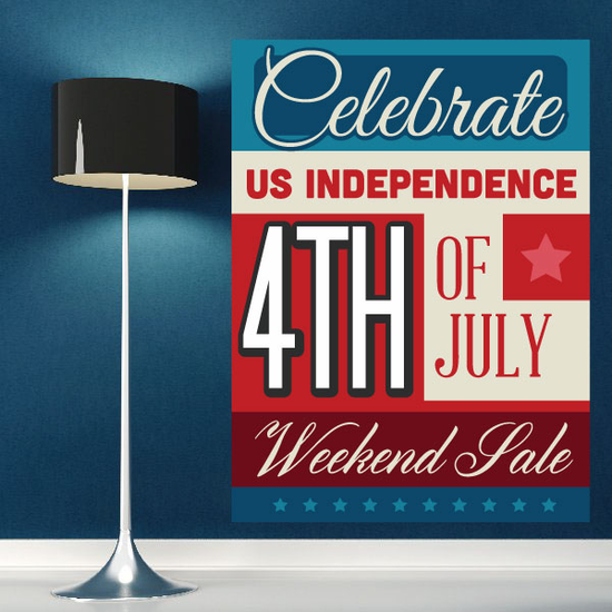 Celebrate US 4th Of July Weekend Sale Business Sticker