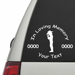 Cowboy Boy Praying Custom In Loving Memory Decal