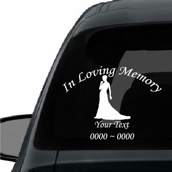 Elegant Woman Custom In Loving Memory Decal