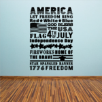 America Let Freedom Ring Decal