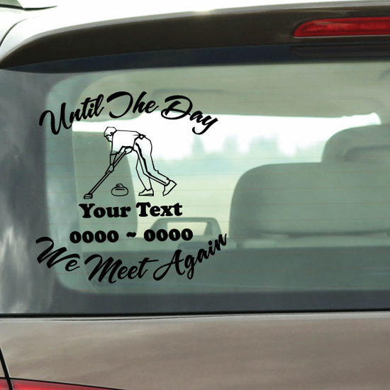 Curling Custom In Loving Memory Decal