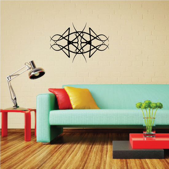 Tribal Pinstripe Wall Decal - Vinyl Decal - Car Decal - 592