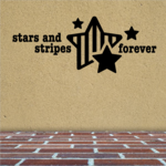 Stars and Stripes Forever Star Decal