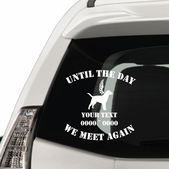 Labrador with Wings Custom In Loving Memory Decal
