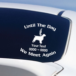 Golden Retreiver with wings Custom In Loving Memory Decal